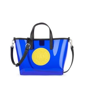 TOUS Blue Transparent Tote Bag